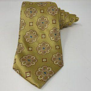 Robert Talbott Finest Silk Necktie Gold Floral